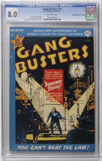 "Gang Busters #19 Davis Crippen (""D"" Copy) pedigree (DC, 1951) CGC VF 8.0 Off-white pages. Dan Barry cover and..."