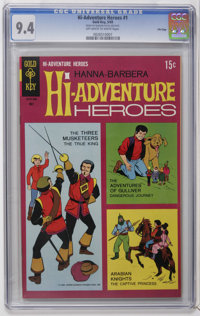 Hi-Adventure Heroes #1 File Copy (Gold Key, 1969) CGC NM 9.4 Off-white to white pages. Three Musketeers, Gulliver, and A...