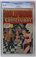 "Golden Age (1938-1955):Romance, Hollywood Confessions #2 Davis Crippen (""D"" Copy) pedigree (St.John, 1949) CGC VF 8.0 Off-white pages. Joe Kubert cover and..."