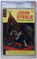 Silver Age (1956-1969):Adventure, John Steele Secret Agent #1 File Copy (Gold Key, 1964) CGC VF+ 8.5 Off-white to white pages. Painted cover. Painted Back cov...