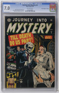 "Golden Age (1938-1955):Horror, Journey Into Mystery #6 Davis Crippen (""D"" Copy) pedigree (Atlas,1953) CGC FN/VF 7.0 Off-white pages. Bill Everett cover. R..."