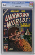 "Golden Age (1938-1955):Horror, Journey Into Unknown Worlds #20 Davis Crippen (""D"" Copy) pedigree(Atlas, 1953) CGC VF 8.0 Off-white to white pages. Gene Co..."