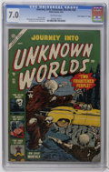 "Golden Age (1938-1955):Horror, Journey Into Unknown Worlds #22 Davis Crippen (""D"" Copy) pedigree(Atlas, 1953) CGC FN/VF 7.0 Off-white pages. Bill Everett,..."