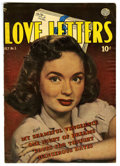 "Golden Age (1938-1955):Romance, Love Letters #5 Davis Crippen (""D"" Copy) pedigree (Quality, 1950)Condition: FN. Overstreet 2006 FN 6.0 value = $27. From ..."