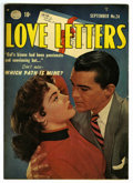 "Golden Age (1938-1955):Romance, Love Letters #24 Davis Crippen (""D"" Copy) pedigree (Quality, 1952)Condition: VF-. Bernie Krigstein art. Overstreet 2006 VF ..."