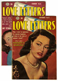 "Golden Age (1938-1955):Romance, Love Letters #15 and 18 Group Davis Crippen (""D"" Copy) pedigree(Quality, 1951-52). Includes #15 (VG) and 18 (FN+). Approxim...(Total: 2 Comic Books)"
