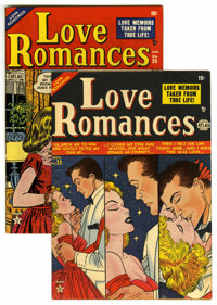 "Love Romances #25-26 Group Davis Crippen (""D"" Copy) pedigree (Marvel, 1952-53). Included are #25 (VG) and 26 (..."