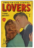 "Golden Age (1938-1955):Romance, Lovers #26 Davis Crippen (""D"" Copy) pedigree (Atlas, 1949)Condition: VF. Photo cover. Overstreet 2006 VF 8.0 value = $47. ..."
