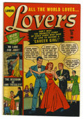"Golden Age (1938-1955):Romance, Lovers #32 Davis Crippen (""D"" Copy) pedigree (Atlas, 1951)Condition: VF-. Line drawn cover. Overstreet 2006 VF 8.0 value =..."