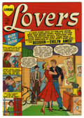 "Golden Age (1938-1955):Romance, Lovers #34 Davis Crippen (""D"" Copy) pedigree (Atlas, 1951)Condition: VF. Overstreet 2006 VF 8.0 value = $47. From theCri..."