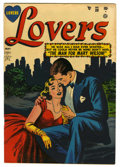 "Golden Age (1938-1955):Romance, Lovers #39 Davis Crippen (""D"" Copy) pedigree (Atlas, 1952)Condition: VF-. Overstreet 2006 VF 8.0 value = $47. From theCr..."