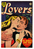"Golden Age (1938-1955):Romance, Lovers #43 Davis Crippen (""D"" Copy) pedigree (Atlas, 1952) Condition: VF+. Contains a Frank Frazetta one page ad. Overstreet..."