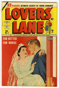 "Lovers' Lane #6 Davis Crippen (""D"" Copy) pedigree (Lev Gleason, 1950) Condition: VF. Painted cover. George Tus..."