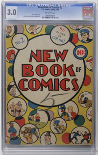 "New Book of Comics #2 (DC, 1938) CGC GD/VG 3.0 Off-white pages. This issue, with a Gerber scarcity rating of ""8&quo..."
