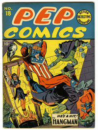 Pep Comics #18 (MLJ, 1941) Condition: FN/VF. Irv Novick cover and art. Overstreet 2006 FN 6.0 value = $267; VF 8.0 value...