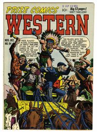 Prize Comics Western #84 Mile High pedigree (Feature, 1950) Condition: NM. A very sharp copy with tons of eye-appeal. Ov...