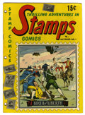 Golden Age (1938-1955):Non-Fiction, Stamps Comics #1 (Youthful Magazines, 1951) Condition: VG. Alsoknown as Thrilling Adventures in Stamps. Promotes stamp ...