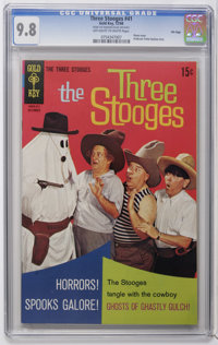 Three Stooges #41 File Copy (Gold Key, 1968) CGC NM/MT 9.8 Off-white to white pages. Photo cover. Overstreet 2006 NM- 9...