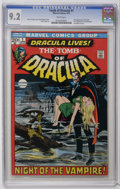 Bronze Age (1970-1979):Horror, Tomb of Dracula #1 (Marvel, 1972) CGC NM- 9.2 White pages. FirstMarvel appearance of Dracula and Frank Drake. Neal Adams co...