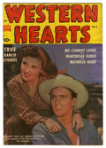"Golden Age (1938-1955):Western, Western Hearts #2 Davis Crippen (""D"" Copy) pedigree (Standard, 1950) Condition: VF-. Photo cover of Beverly Tyler and Jerome..."