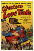 "Golden Age (1938-1955):Romance, Western Love Trails #8 Davis Crippen (""D"" Copy) pedigree (Ace,1950) Condition: VF. Nice cover color. Overstreet 2006 VF 8.0..."
