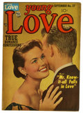 "Golden Age (1938-1955):Romance, Young Love #37 Davis Crippen (""D"" Copy) pedigree (Prize, 1952) Condition: FN+. Photo cover. Overstreet 2006 FN 6.0 value = $..."