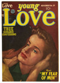 "Golden Age (1938-1955):Romance, Young Love #39 Davis Crippen (""D"" Copy) pedigree (Prize, 1952) Condition: VF/NM. Photo cover. Overstreet 2006 VF/NM 9.0 valu..."
