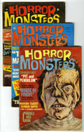 Magazines:Horror, Horror Monsters Group (Charlton, 1961-63) Condition: Average VG. Contains #1, 2, 3, 4, and 7. All issues feature painted cov... (Total: 5 Comic Books)