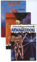 "Bronze Age (1970-1979):Alternative/Underground, ""Armageddon"" Comix, Group of 5 (Various, 1972-76). Classic Underground series by artist Barney Steel. Includes: All-New Un... (Total: 5 Comic Books)"