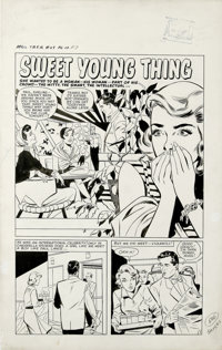 "Matt Baker and Vince Colletta - True Bride-to-Be-Romances #29, Complete 5-page story ""Sweet Young Thing"" Origi..."