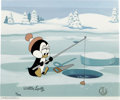 "Animation Art:Limited Edition Cel, ""Chilly's Fishing Hole"" Limited Edition Hand Painted Cel #3/200Original Art (Walter Lantz Productions, 1991). Chilly Willy ...(Total: 2 Items)"