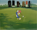 "Animation Art:Limited Edition Cel, ""Golfing Fool"" Limited Edition Hand Painted Cel #4/100 Original Art, Signed by Walter Lantz (Walter Lantz Productions, 1992).... (Total: 2 Items)"