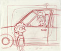 "Animation Art:Production Drawing, The Simpsons - ""Lisa Simpson and Ned Flanders"" PreliminaryAnimation Drawing Original Art, Group of 5 (Twentieth Century Fox,... (Total: 5 Original Art)"
