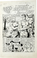 "Original Comic Art:Complete Story, John Sink - First Love Illustrated #23 Complete 5-page story ""IDidn't Believe in Love"" Original Art (Harvey, 1952). Big, bo..."