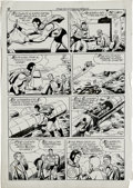 "Original Comic Art:Panel Pages, ""Super-Hombre"" Page Original Art (undated)). Well, well, it seemsthe Man of Steel sports a whole different look south of th..."