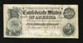 Confederate Notes:1864 Issues, T64 $500 1864. Original paper surfaces are noticed on this $500. Ithas a small tear at center, a small edge tear, and two m...