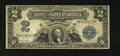 Error Notes:Large Size Errors, Inverted Back Fr. 256 $2 1899 Silver Certificate Very Good. This is a snappy invert that is solid for the grade. There is on...