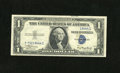 Error Notes:Obstruction Errors, Fr. 1608 $1 1935A Silver Certificate. Choice About Uncirculated.. A neat obstruction affects the third printing on this $1 S...