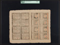 Colonial Notes:Rhode Island, Rhode Island July 2, 1780 Full Double Sheet of Sixteen $1, $2, $3, $4, $5, $7, $8 and $20 PCGS Very Choice New 64.. ...