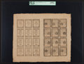 Colonial Notes:Pennsylvania, Pennsylvania April 25, 1776 Complete Double Sheet of 24 3d, 4d, 6d and 9d PCGS Gem New 65PPQ.. ...