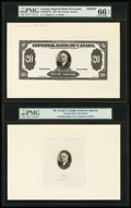 Canadian Currency: , Toronto, ON- Imperial Bank of Canada $20 Nov. 1, 1933 Ch. #375-20-06FPa Face Proof. ... (Total: 2 notes)