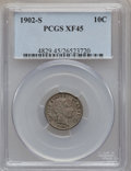Barber Dimes: , 1902-S 10C XF45 PCGS. PCGS Population (14/96). NGC Census: (1/57).Mintage: 2,070,000. Numismedia Wsl. Price for problem fr...