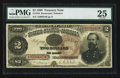 Large Size:Treasury Notes, Fr. 354 $2 1890 Treasury Note PMG Very Fine 25.. ...