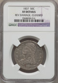 Reeded Edge Half Dollars: , 1837 50C -- Cleaned, Rev Damage -- NGC Details. XF. NGC Census:(53/1060). PCGS Population (113/1067). Mintage: 3,629,820. ...