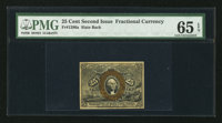 Fr. 1286a 25¢ Second Issue PMG Gem Uncirculated 65 EPQ