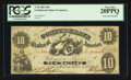 Confederate Notes:1861 Issues, T10 $10 1861 PF-20 Cr. 37 CC.. ...
