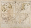 Books:Maps & Atlases, [Map of New England and the Carolinas]. Dominia Anglorum inAmerica Septentrionali. Homann, ca. 1740. Approx. 20.5 x...