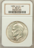 Eisenhower Dollars: , 1973-S $1 Silver MS67 NGC. NGC Census: (745/135). PCGS Population(3252/820). Mintage: 869,400. Numismedia Wsl. Price for p...