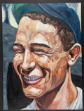 Baseball Collectibles:Others, Lou Gehrig Original Oil Painting....