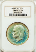 Proof Eisenhower Dollars: , 1974-S $1 Silver PR68 Cameo NGC. NGC Census: (736/688). PCGSPopulation (125/138). Numismedia Wsl. Price for problem free ...